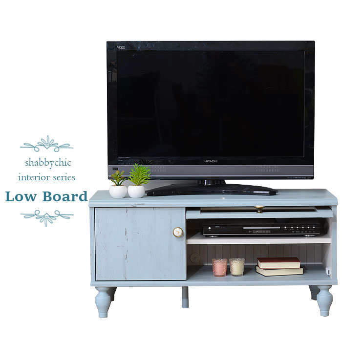 TV Units Compact Shabby Chic Decor French Shabby Style Wood Storage Glass  Door Flap Door Cabinets ...