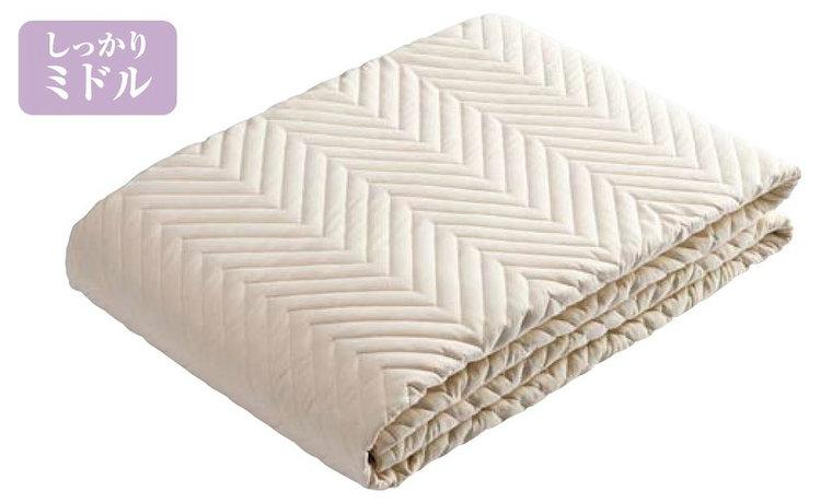 西川エコウォッシュ綿ベッドパッド キングサイズ