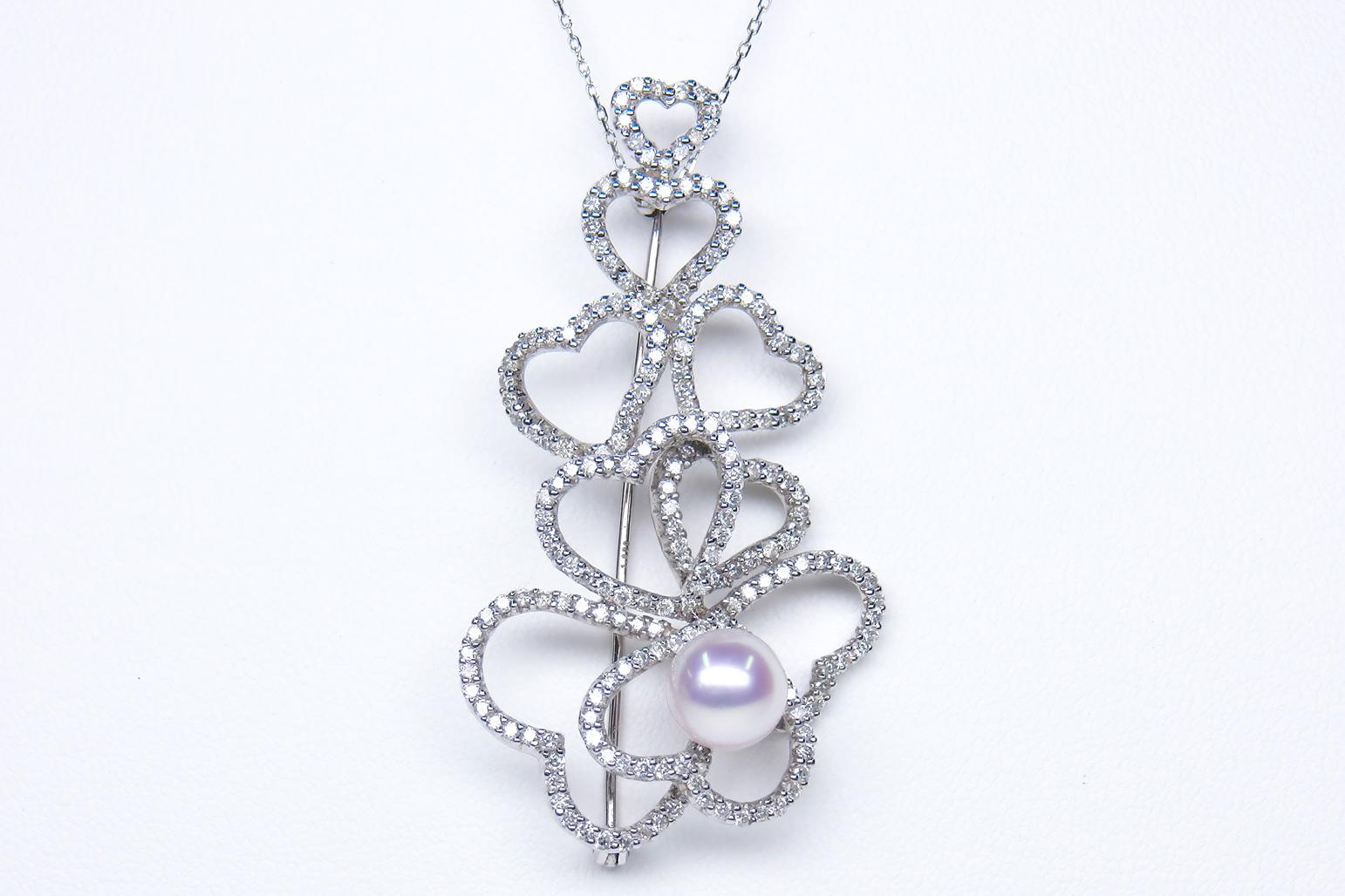 《真珠大卸からの直販》■ 1.82ctダイヤモンドの極上の輝き■花珠アコヤ真珠ダイヤペンダントブローチ 8.0mmUP【送料無料】, ハセムラ:54b61acb --- whoisrobertjohns.com