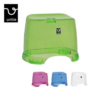 日本製 シンプルな形 浴室をすっきりみせるクリアタイプ untie crystal2 高品質 アンティクリスタル2 透明 新品未使用 風呂椅子角 シンカテック 座面の高さ約27cm 風呂椅子 UNC おしゃれバスグッズ 風呂いす HK