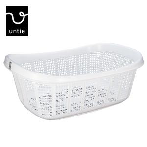白で美しく シンプルな形 浴用施設でもご利用頂いています untie pro アンティプロ 卸売り 脱衣カゴ S-UPR 脱衣籠 洗濯物入れ シンカテック バスグッズ マーブル 洗濯カゴ ランドリーバスケット お値打ち価格で