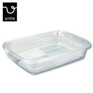 透明キッチンシリーズ おしゃれなクリアタイプ 水切りバット UNC 水切りラック S型 送料無料/新品 水切りかご アウトレット ファクトリーアウトレット