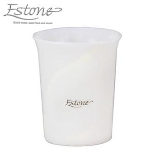 日本製 上品な白の大理石調マーブル模様 Estone エストーネ「タンブラー ST-RX」コップ カップ 歯みがき 洗面グッズ シンカテック