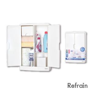 日本製 扉付きスッキリ収納 トイレの必需品の整理整頓に Refrain リフレイン 国内在庫 トイレ収納ケース 特別セール品 シンカテック トイレ用品 すきま収納 目隠し収納 RE-ワイド