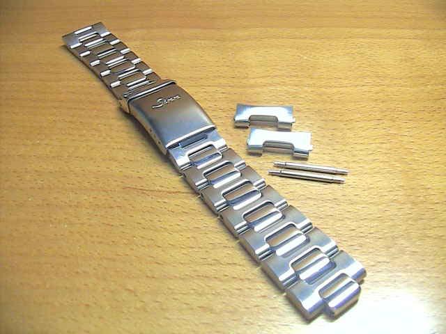 【SINN】 【ジン】 時計 ベルト バンド ブレスレット 103、203、303、403 (20mm) 純正ステンレススチール 時計バンド SSサテン×SSポリッシュ