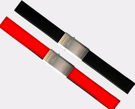 【SINN】 ジン 腕時計 Sinn 純正バンド ベルト 20mm &Uシリーズ用 (22mm) シリコンラバー・ストラップ マットバックルつき 腕時計用 時計ベルト 時計用バンド