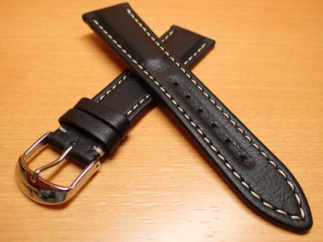 SINN ジン 腕時計 Sinn 純正バンド ベルト 956用 (22mm) 牛革 カーフレザー・ストラップ SSポリッシュ・バックル 腕時計用 時計ベルト 時計用バンド