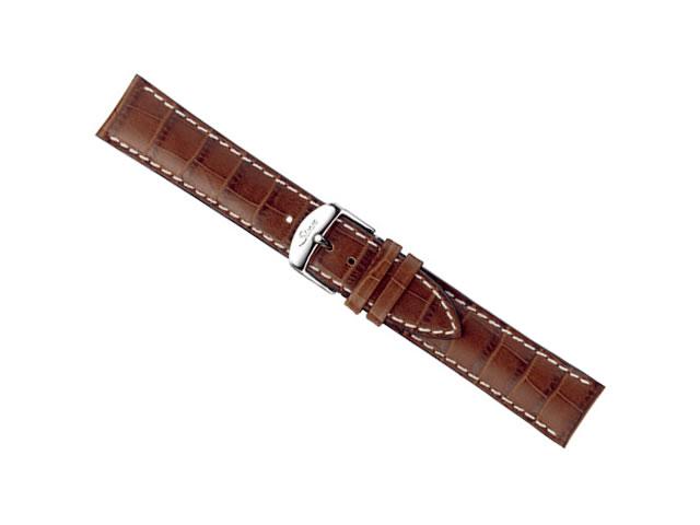 SINN ジン 腕時計 Sinn 純正バンド ベルト 牛革 カウレザー ストラップ (型押し)SSマット・バックル & SSポリッシュ・バックル (20mm & 22mm) 腕時計用 時計ベルト 時計用バンド ライトブラウン (薄茶に白ステッチ)