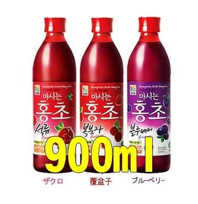 -(Okinawa and remote islands such as the additional shipping is)-choice red vinegar (honcho) 900 ml 3-piece set (-choice 3) (Korea health vinegar and)