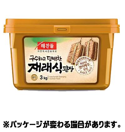 『ヘチャンドル』在来式デンジャン 3kg <韓国調味料・韓国味噌・韓国みそ>