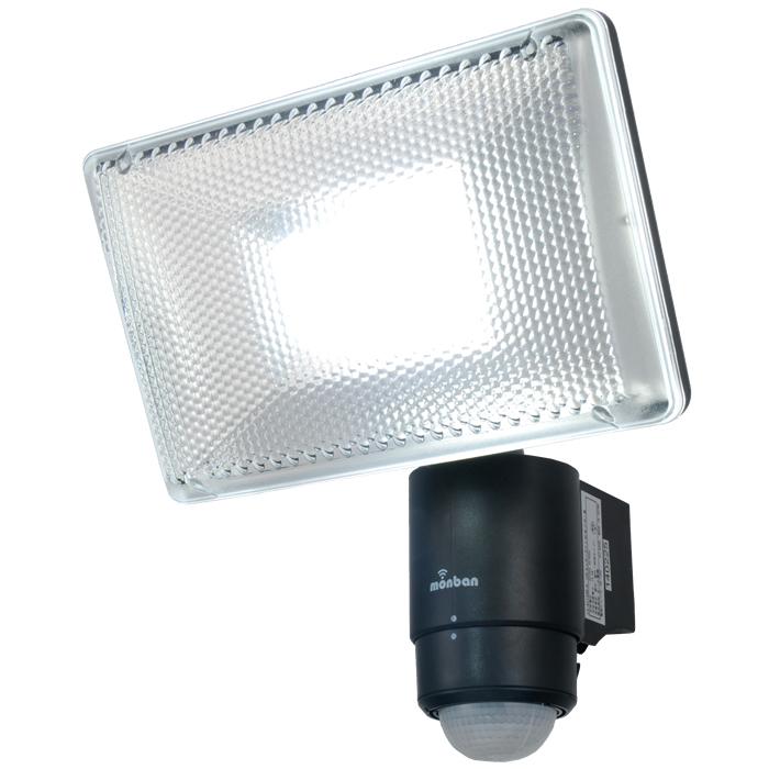 LEDセンサーライト トーチライト LS-A1134B-K『家電』』[オーム電機]【照明機器】【人感センサーライト】【LEDライト】【玄関灯】【防犯灯】【外灯】【ガーデンライト】【ガレージ】