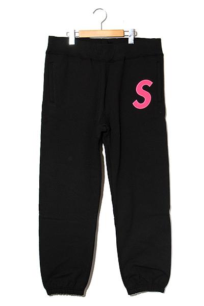 【中古】未使用品 2019AW SUPREME シュプリーム S Logo Sweatpant Sロゴ スウェットパンツ Black 黒 Medium/● メンズ 【ベクトル 古着】 190909 ベクトル 新都リユース