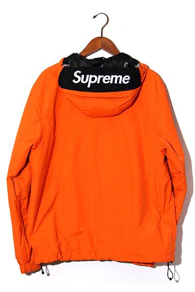 【中古】2017AW SUPREME シュプリーム Hooded Logo Half Zip Pullover フーデッドロゴハーフジッププルオーバージャケット M Orange/● メンズ 【ベクトル 古着】 191101 ベクトル 新都リユース