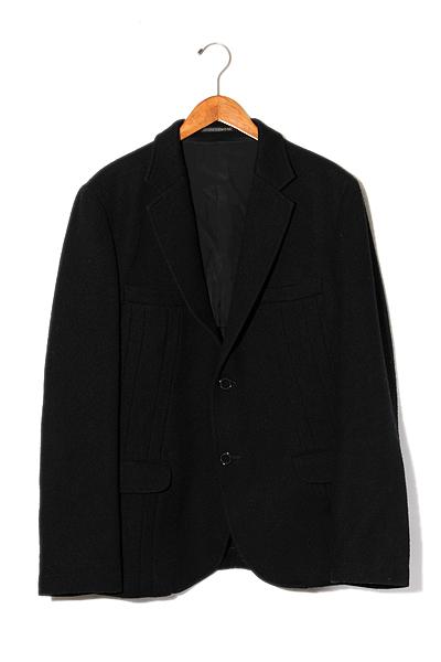 【中古】YOHJI YAMAMOTO POUR HOMME ヨウジヤマモトプールオム ウール 2B ジャケット パンツ シングルスーツ セットアップ 3 Black 黒 /◆ メンズ 【ベクトル 古着】 200207 ベクトル 新都リユース