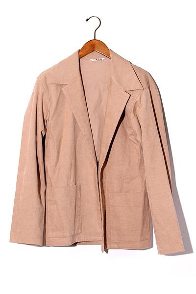 【中古】2019SS AURALEE オーラリー Hemp Corduroy Shirts Jacket ヘンプ コーデュロイ シャツジャケット 4 Pink Brown/● メンズ 【ベクトル 古着】 200211 ベクトル 新都リユース