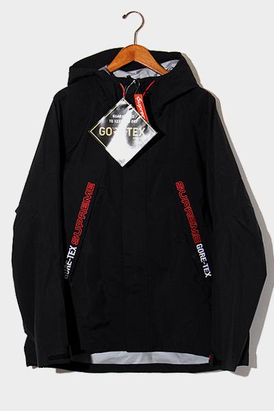 【中古】未使用品 2019AW SUPREME シュプリーム GORE-TEX Taped Seam Jacket テープドシーム ジャケット マウンテンパーカー L Black 黒/● メンズ 【ベクトル 古着】 200713 ベクトル 新都リユース
