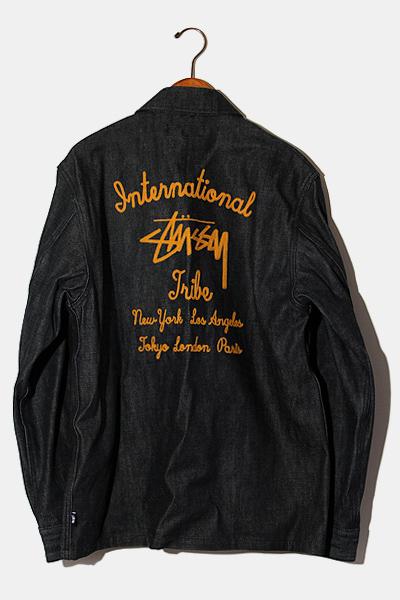 【中古】STUSSY ステューシー International Tribe デニム カバーオール ジャケット L インディゴ/◆ メンズ 【ベクトル 古着】 200808 ベクトル 新都リユース