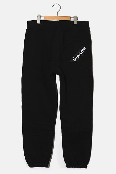 【中古】2018SS SUPREME シュプリーム Corner Label Sweatpant コーナー ラベル ロゴ スウェットパンツ S Black 黒/● メンズ 【ベクトル 古着】 200810 ベクトル 新都リユース