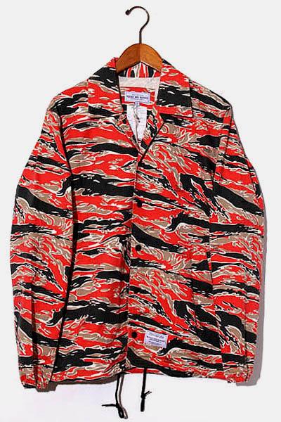 【中古】未使用品 ROUGH AND RUGGED ラフアンドラゲッド コーチタイプ シャツジャケット 1 RED レッド /● メンズ 【ベクトル 古着】 201001 ベクトル 新都リユース