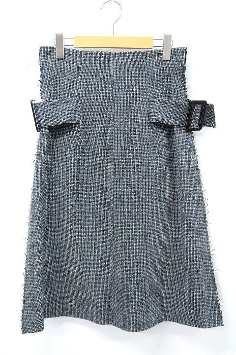 【中古】トーガ プルラ TOGA PULLA 2018AW Wool Skirt ウール 異素材切替 ロング スカート 36 【ベクトル 古着】 191221 ベクトル 新都リユース