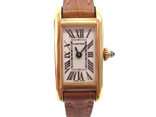 【中古】カルティエ Cartier タンクアロンジェ W1529956 腕時計 K18YG 750イエローゴールド クオーツ 電池交換済み レディース 【ベクトル 古着】 191213 ベクトル 新都リユース