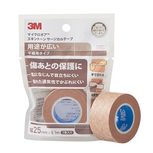 3M マイクロポアスキントーン サージカルテープ 不織布(ベージュ) 25mm×9.1m 10巻入 1533EP-1【コンビニ受取対応商品】