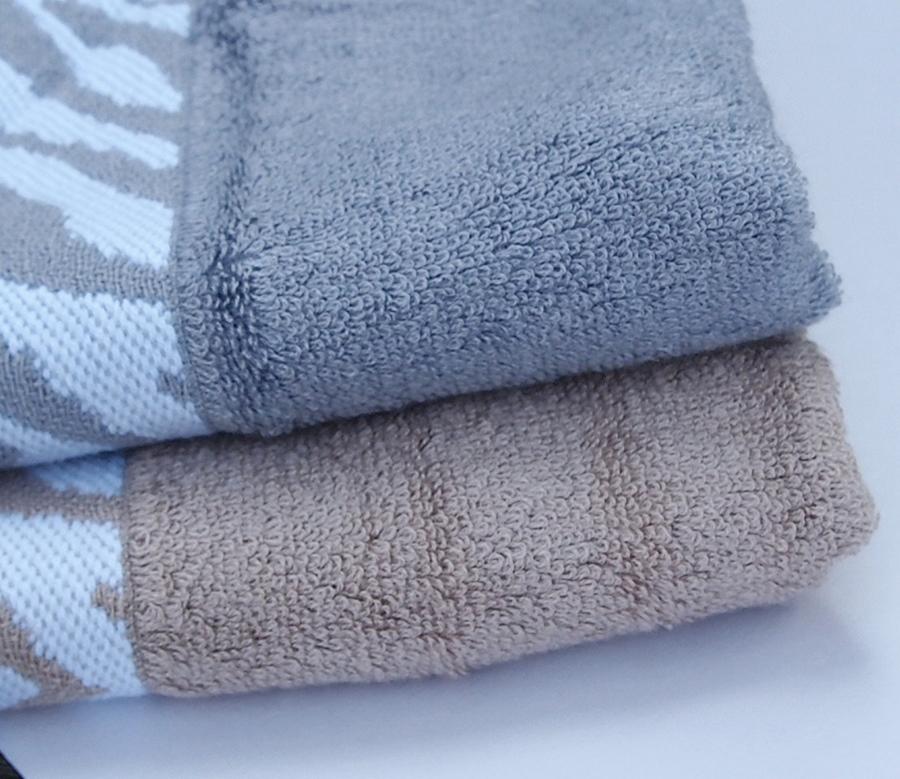 10P20Sep14 竹混纺针织物、 有机 / 抗菌 / 特应性皮肤竹纤维洗脸毛巾和洗毛巾套 (条纹图案)