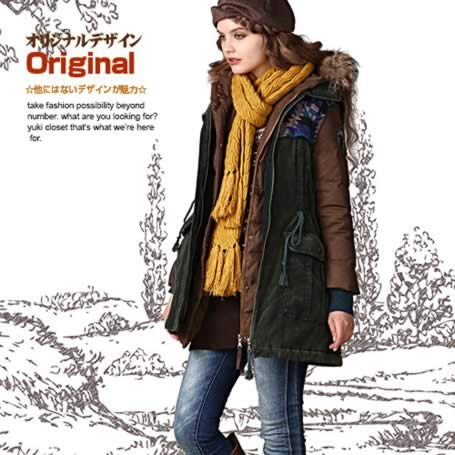オリジナルデザイン 冬新作 フード付き 取り外し可能リアルファー付きダウンコート&ベスト 二点セット 上質ダウン 暖かい 茶色 深緑色 ブラウン ダークグリーン 大きいサイズあり