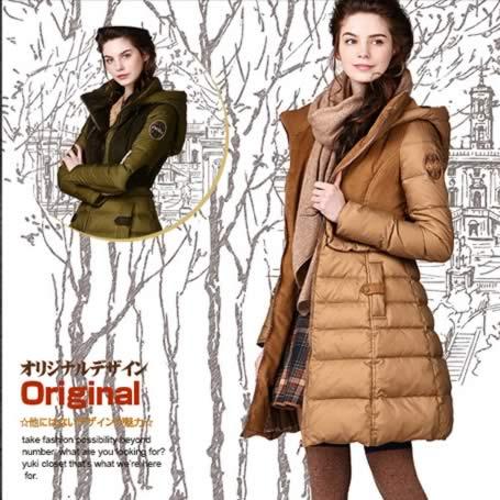 オリジナルデザイン 上質ダウン90% 異素材MIX レディース ダウンコート 取り外し可能フード付き 上品 大人可愛い ウエストマーク 着痩せ Aライン 暖かい ミディアム丈
