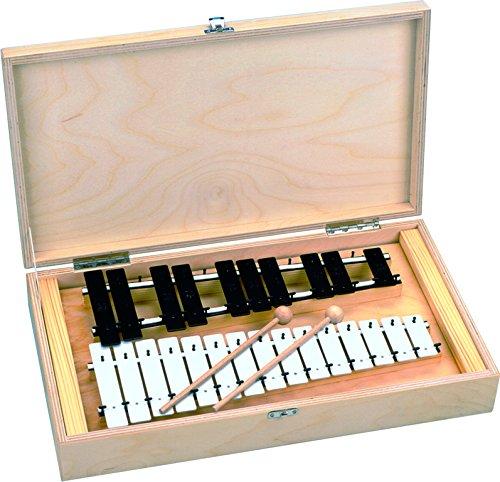 Goldon メタロフォン 11085 25音 鉄琴 木箱入り