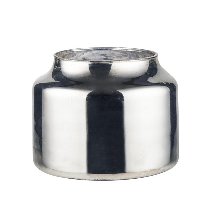 デコ ベース 【ZAKKIA】Deco Vase-Short Silver / デコ ベース ショート シルバー