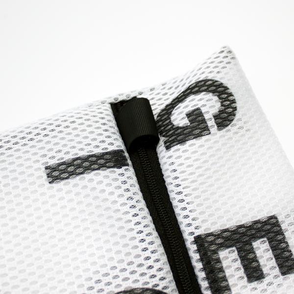 ランドリーネット モノトーン 【ランドリーネット】アルファベット ランドリーネット 角型3枚セット