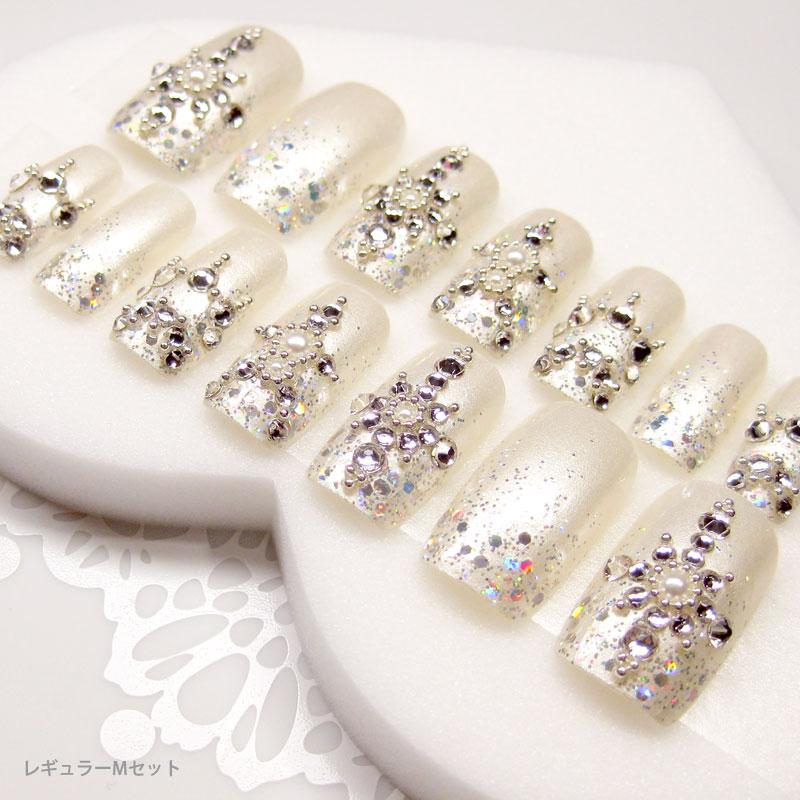 オーダーメイドネイル tips on bridal nail tip white wedding dress with the perfect nails wedding receptions ...