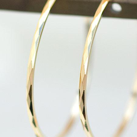 フープピアス K18 Couper クーペ アーガイル 直径 25mm ピアス フープ   ジュエリー システィーナ リリコ レディース結婚 結婚式 プレゼント 贈り物あす楽IWEH29D