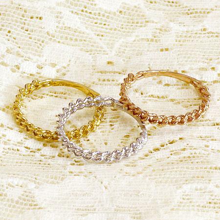 指輪 リング チェーンデザイン キヘイ 喜平 チェーン | K18 レディース ジュエリー K18 18金 贈り物 プレゼント 重ね付け