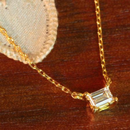 バゲットカット アンティークネックレス バゲット ダイヤモンド ダイヤ ネックレス | K18 K10 ジュエリー システィーナ リリコ 大人 天然石 結婚 結婚式 贈り物【あす楽】