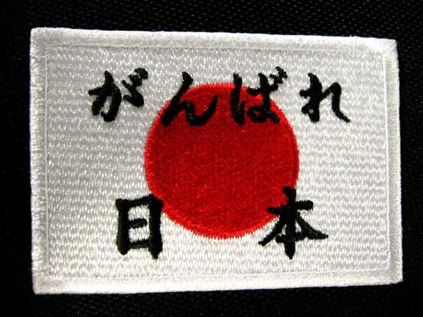 100% 宅配便送料無料 Made in JAPAN本格刺繍 定価の67%OFF がんばれ 日本ワッペン 応援 ネコポスOK アイロン接着 日の丸 観戦
