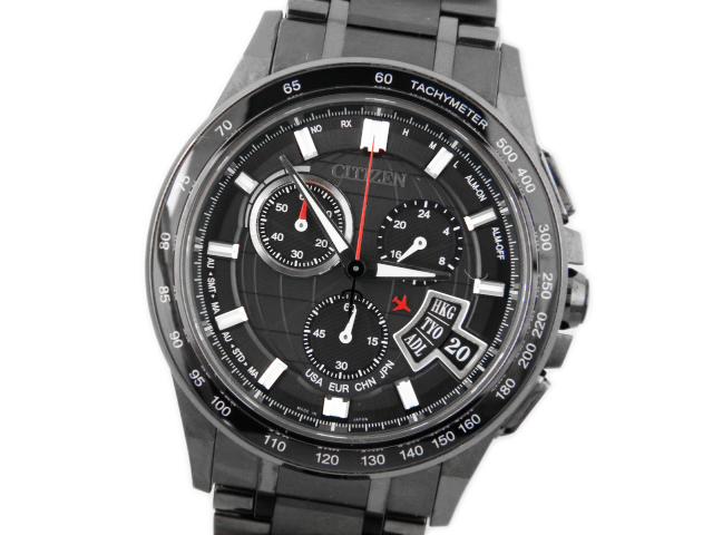 シチズン メンズ腕時計 アテッサ エコドライブ ダイレクトフライト BY0095-50E 【中古】【あす楽対応_東海】【コンビニ受取対応商品】