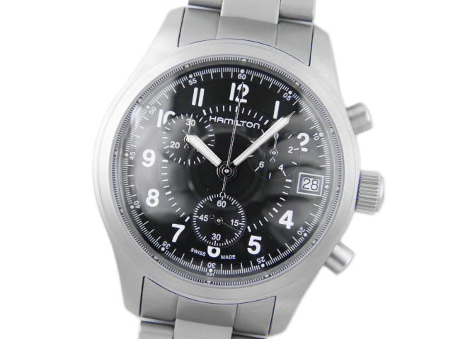 ハミルトン メンズ腕時計 カーキ クロノグラフ H68582133 【中古】【あす楽対応_東海】【コンビニ受取対応商品】