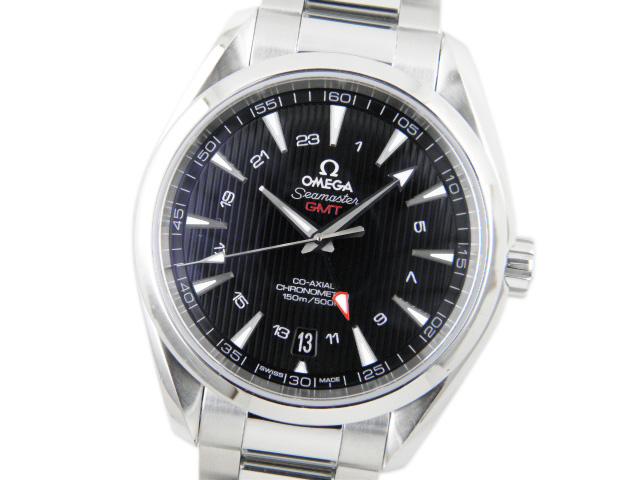 オメガ メンズ腕時計 シーマスター アクアテラ GMT コーアクシャル 231.10.43.22.01.001 【あす楽対応_東海】【中古】【コンビニ受取対応商品】