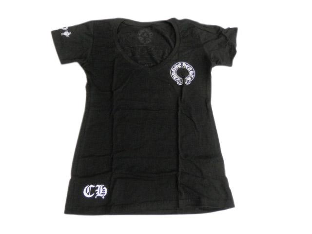 クロムハーツ 半袖Tシャツ T-SHIRT-W-SS-V-NECK ブラック 未使用品【あす楽対応_東海】【コンビニ受取対応商品】