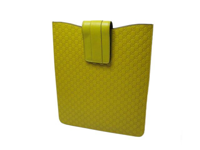 グッチ マイクロシマ iPadケース 256575 イエロー系 未使用品 【あす楽対応_東海】【コンビニ受取対応商品】
