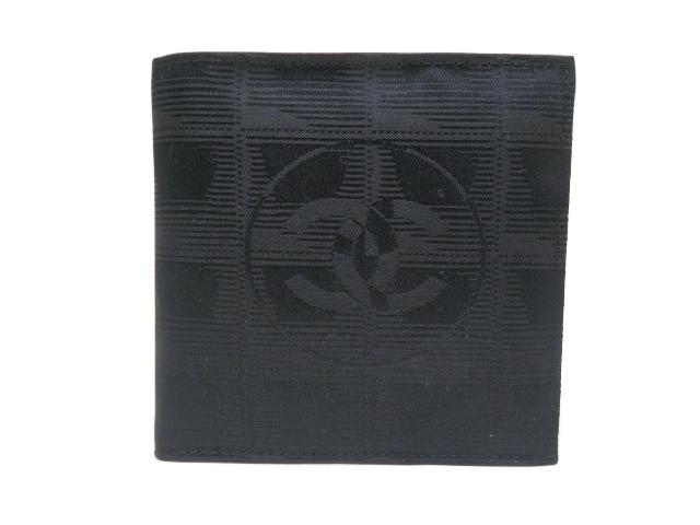 シャネル トラベルライン 二つ折り財布 A14342 ブラック 【中古】【あす楽対応_東海】【コンビニ受取対応商品】