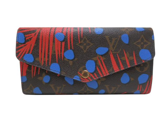 ルイ・ヴィトン モノグラムジャングルドット ポルトフォイユ・サラ M41381 ブルー【中古】【あす楽対応_東海】【コンビニ受取対応商品】