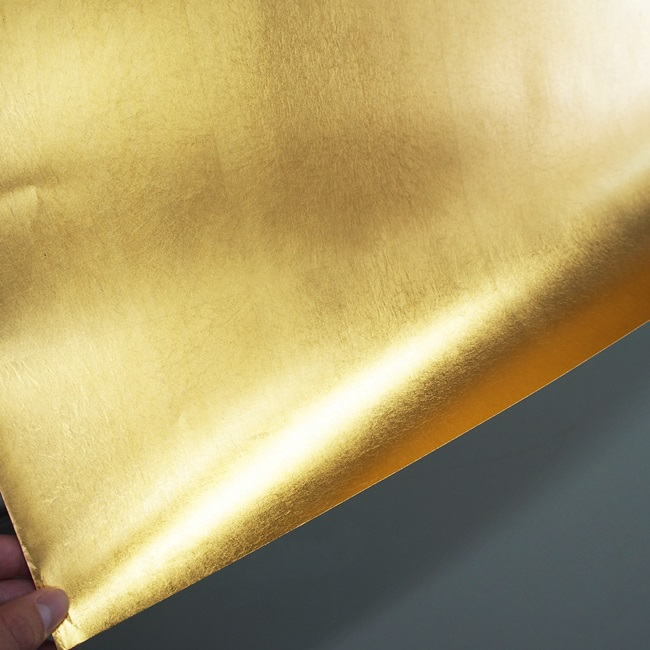 やまと金紙 洋金平押 95cm × 182cm (襖/屏風/和額/衝立/装飾/紙)