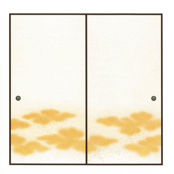 高級織物襖紙 瑞雲(ずいうん) 2枚組 3間用 (襖/ふすま/ふすま紙/糸入り/金/幅広/通販)