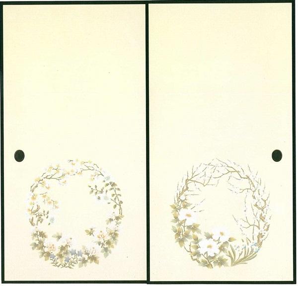 高級織物襖紙 2枚組 花園(はなぞの) (襖/襖紙/ふすま/ふすま紙/糸入り/織物/押入れ/張替)