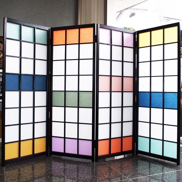 Siturai rakuten global market screen color plastic shoji paper using color screen wood screen - Stylish room divider ...