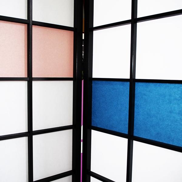 Screen Color Plastic Shoji Paper Using Wood Room Divider Parion 4 Stylish Modern Tsuitate Screens Byobu