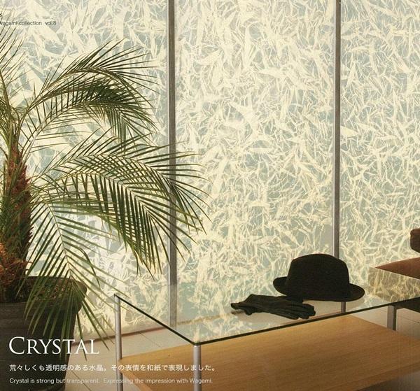 ガラス・アクリルにも施工出来る 創作和紙 No.2508(CRYSTAL) (壁紙/かべ紙/クロス/張替/通販)